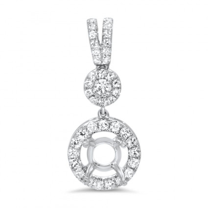 Halo Bail Diamond Pendant for 1 ct Stone | AN14-009