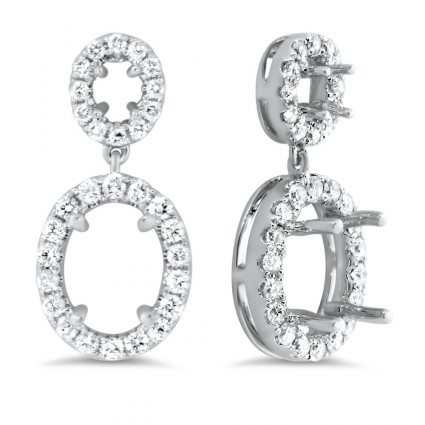 Oval Halo Earrings for 1.5 ct Center Stone | AE14-015