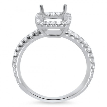 Square Halo Engagement Ring for 0.75ct Center Stone   AR14-193