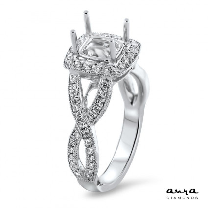 Halo Modern Engagement Ring for 1.25ct Stone | AR14-086