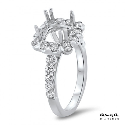 Cathedral Halo Engagement Ring for 2 ct Center Stone | AR14-075