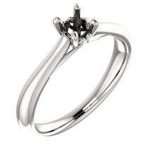 Platinum Solitaire Antique Engagement Ring Mounting