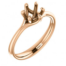 18kt Rose Gold Modern Solitaire Engagement Ring
