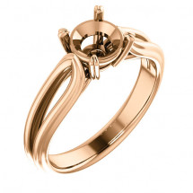 10kt Gold Split Shank Engagement Ring
