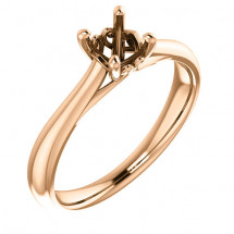18kt Rose Gold Antique Solitaire Engagement Ring | AR122455.018