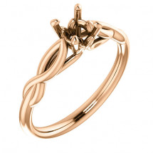 18kt Rose Gold Infinity Solitaire Engagement Ring