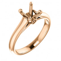 18kt Rose Gold Modern Cathedral Solitaire Engagement Ring