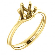 18kt Yellow Gold Modern Solitaire Engagement Ring