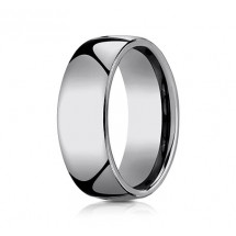 8mm Rounded Tungsten Ring With High Polish