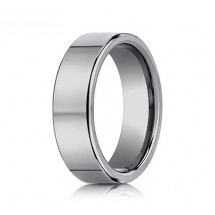 7mm Tungsten Ring With Flat High Polished Surface