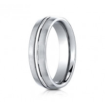 6mm Cobalt Ring With Satin Finish & High Polished Center