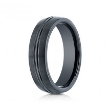 6mm Ceramic Ring With Satin Finish & High Polished Center | ACF56411CM