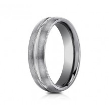 6mm Tungsten Ring With Satin Finish & High Polished Center