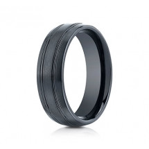 7mm Ceramic Ring With Satin Finish & Beveled Edges