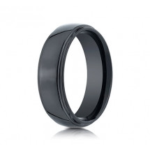 7mm Ceramic Ring With High Polish & Double Edge