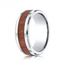 8mm Cobalt Ring with Wood Grain Inlay