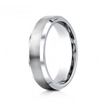 6mm Cobalt Ring With Satin Center & Beveled Edges | ACF66416CC