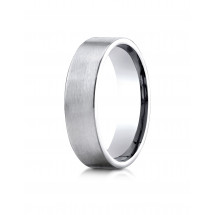Comfort-Fit Satin-Finished Carved Design Band