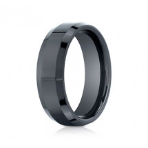 7mm Ceramic Ring with High Polish & Beveled Edge