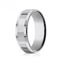 7mm Tungsten Ring with High Polish & Beveled Edge