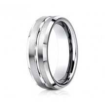7mm Cobalt Ring With Satin Finish & Beveled Edges