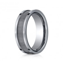 7mm Tungsten Ring With High Polished Flat Edge