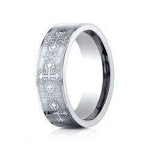 7mm Cobalt Ring With Cross Designs