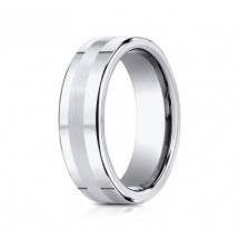 7.5mm Cobalt Ring With Satin Center | ACF67556CC
