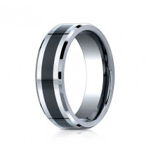 7mm Cobalt Ring With Ceramic Inlay | ACF67861CMCC