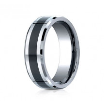 7mm Tungsten Ring With Ceramic Inlay | ACF67861CMTG