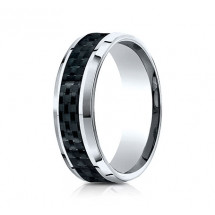 8mm Cobalt Carbon Fiber Ring