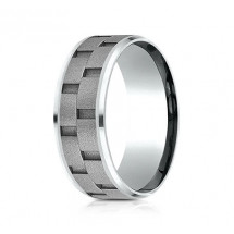8mm Cobalt Brick Set Ring