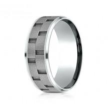 8mm Cobalt Brick Set Ring