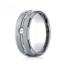 8mm Titanium Ring With Screw Designs