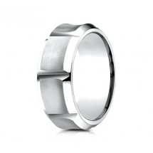 9mm Cobalt Ring With Concave Sections
