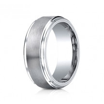 9mm Cobalt Ring With Satin Center & Beveled Edge | ACF69486CC