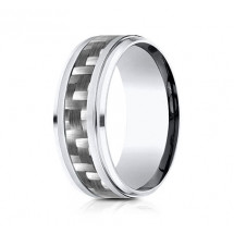 9mm Cobalt Ring With Carbon Fiber