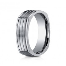 7mm Titanium Four Sided Ring