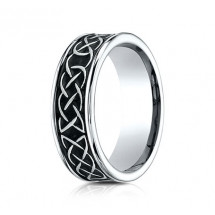 7mm Cobalt Ring With Tribal Designs