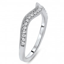 Shadow Matching Wedding Band 0.17ct