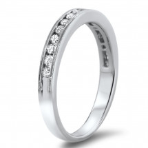 Milgrain Diamond Wedding Band 0.32ct