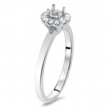 Round Halo Engagement for 0.5 ct Center Stone | AR14-149