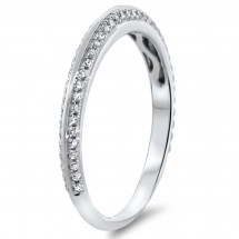 0.31ct Double Row Diamond Wedding Band