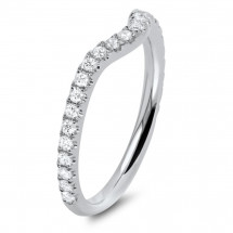 Shadow Micro Pave Matching Wedding Band 0.35ct