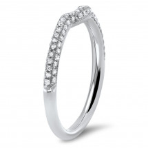 Shadow Matching Pave Wedding Band 0.34ct