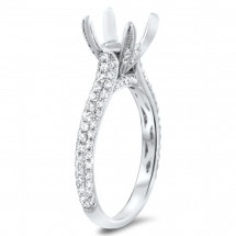 Pave Engagement Ring 86 for 1 ct Center Stone | AR14-101