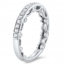 Micro Pave Modern Wedding Band 0.49ct