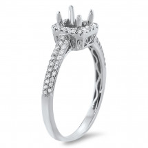 Square Halo Pave Engagement Ring for 1ct Center Stone | AR14-098