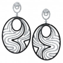 Black & White Diamond Earrings 6.82ct