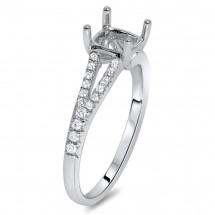 Cathedral Split Shank Engagement Ring for 1ct Stone
